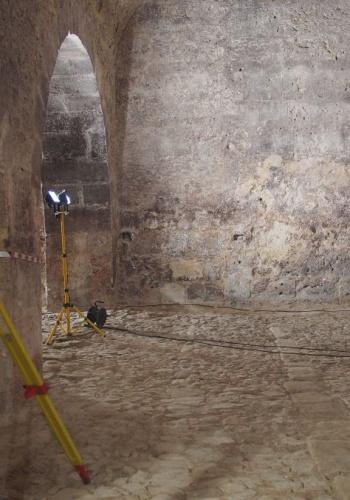 Topografía para arqueología de la Sala de los Monjes